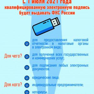 С 1 июля 2021 года ЭЦП будет выдавать ФНС России