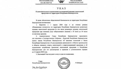 В Башкирии вводится запрет на продажу алкоголя в определенные часы