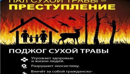 О запрете выжигания сухой травы в пожароопасный период